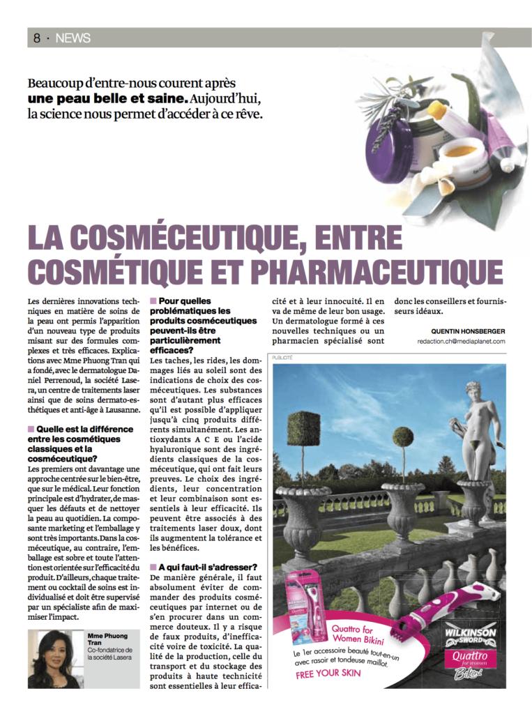 La cosméceutique, entre cosmétique et pharmaceutique